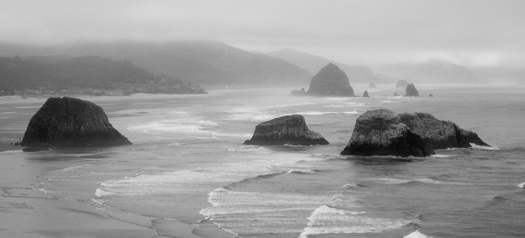 Canon Beach and Haystack Rock - Astoria, Oregon