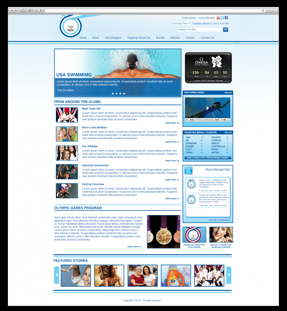 Internal Olympic News Hub