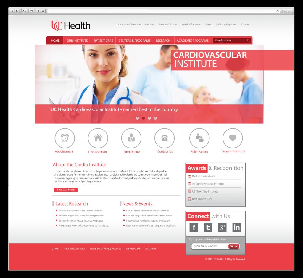 UC Health Web Design